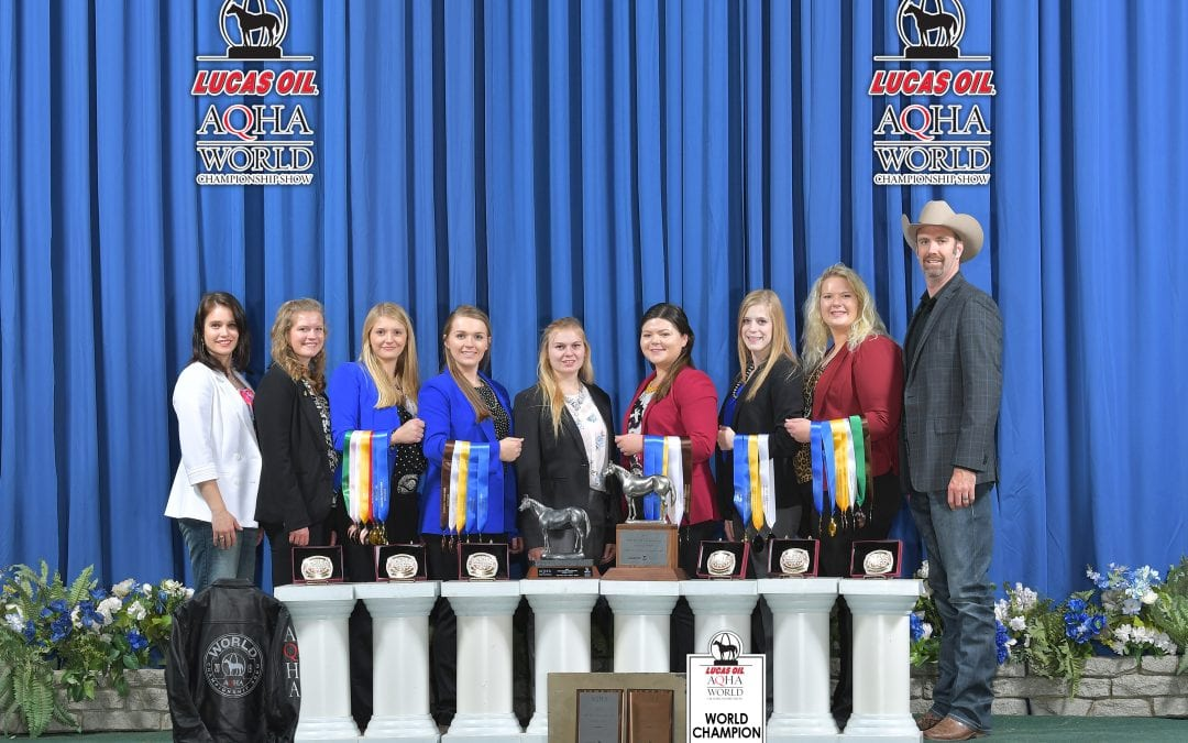 K-State Horse Judging Team Captures Two World Titles: University First Ever To Pull Off Double Win