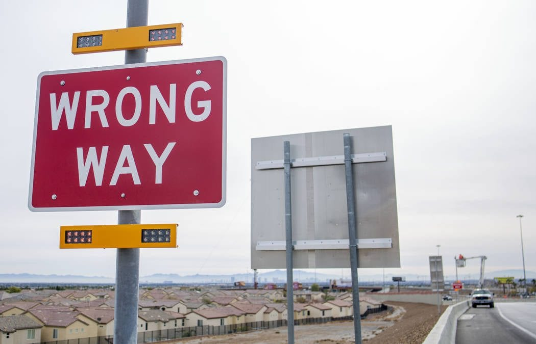 Hundreds of wrong-way drivers reported on Nevada highways in 2019