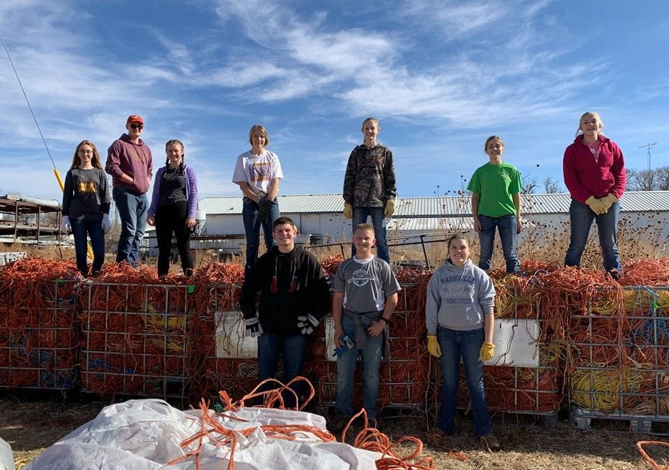 Morgan County 4-H Group Starts Twine Recycling Program