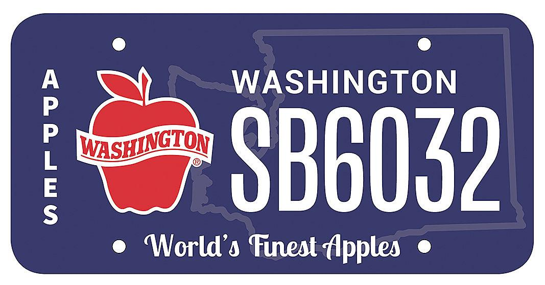 Washington state lawmaker proposes specialty apple license plate