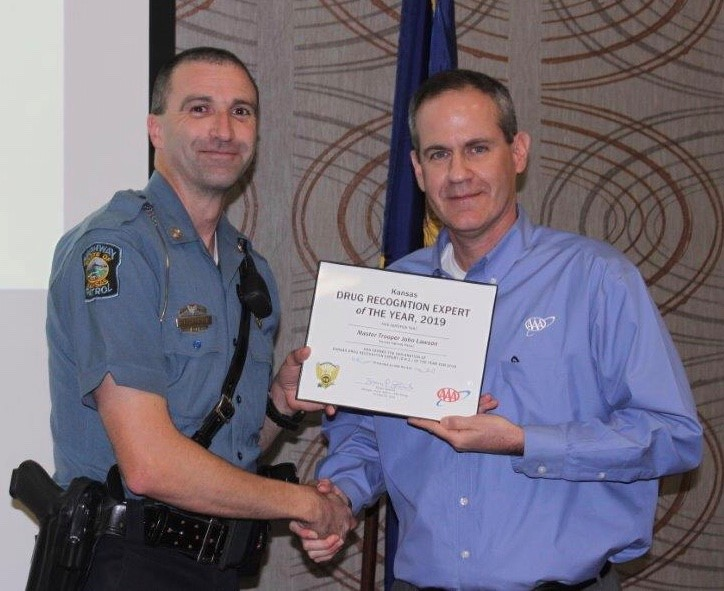 KHP Trooper Earns Drug Recognition Expert of the Year Honor from AAA Kansas