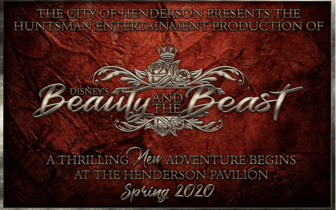 Disney's Beauty and the Beast Scheduled for Two Weekends at the Henderson Pavilion in Spring 2020