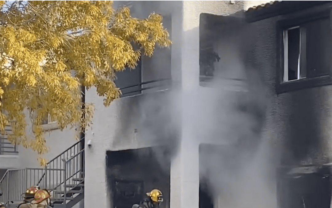 1 badly hurt in explosion, fire at North Las Vegas apartment complex