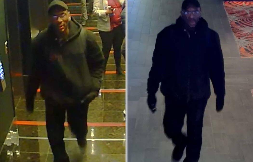 Las Vegas police seek help finding violent robber caught on video