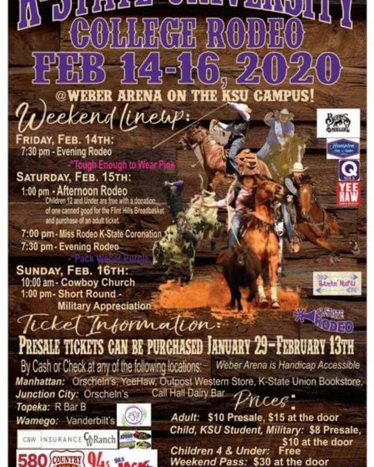 K-State Rodeo Returns to Weber Arena