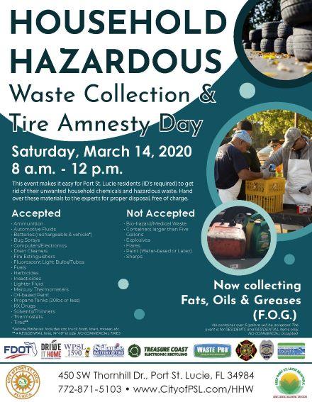 KPSLB Household Hazardous Waste Collection & Tire Amnesty Day