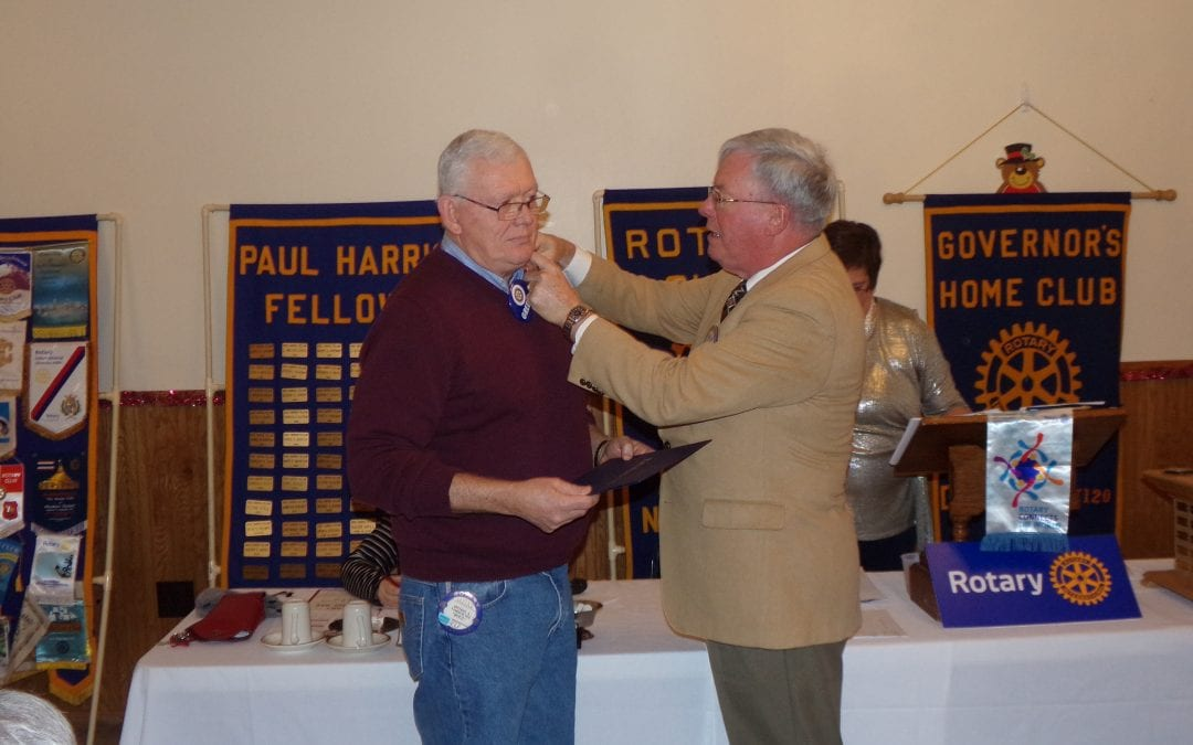 Newark Rotarian received Paul Harris Fellow
