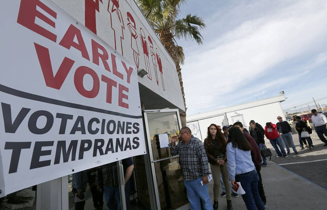 Thousands turn out for first day of early voting for Democratic caucuses