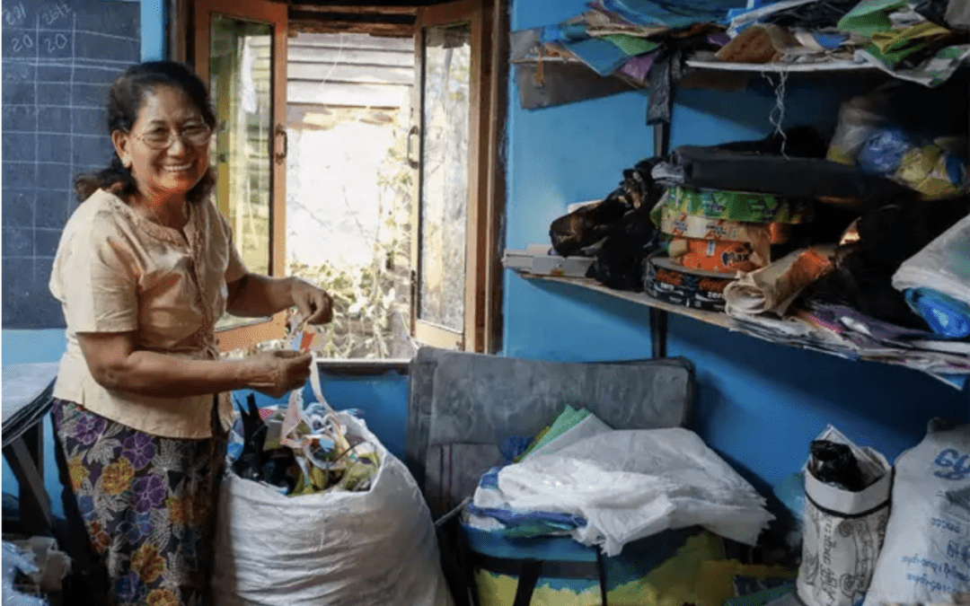 The house that trash built: Myanmar start-up turns clutter to handicrafts