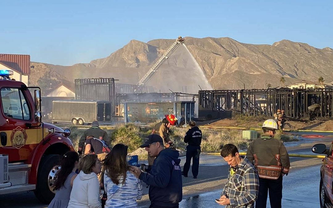 Fire destroys 1 house under construction, damages 2 others
