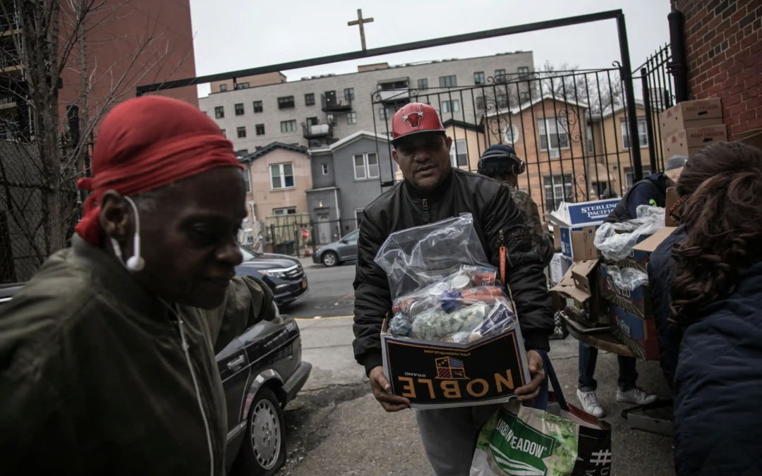 'A perfect storm': US facing hunger crisis as demand for food banks soars