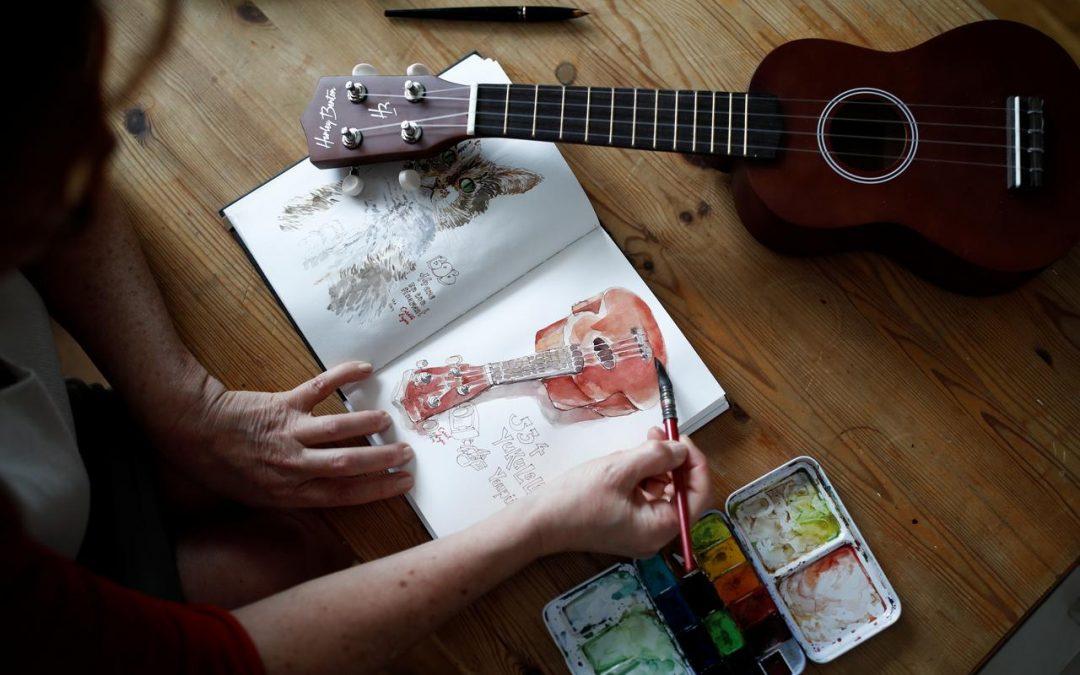 Beauty in radishes: Parisian tells lockdown story in watercolor