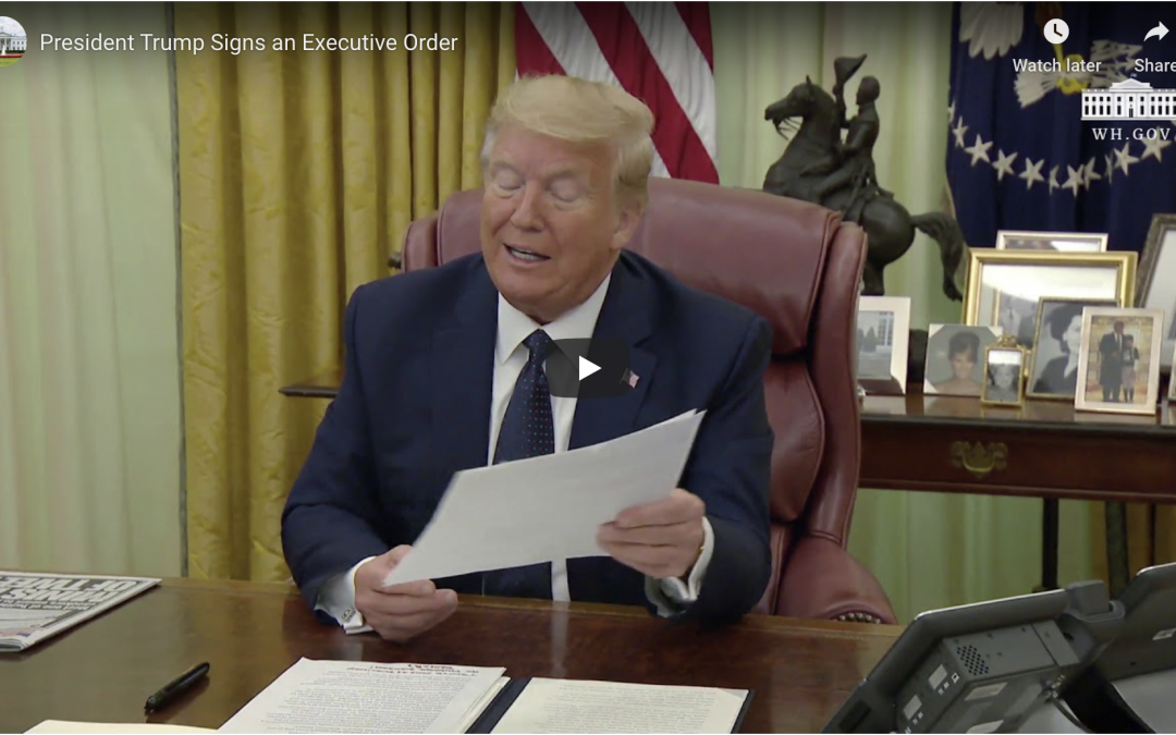 President Trump Signs an Executive Order to Curb Big Tech's 'Unchecked Power' May 28, 2020