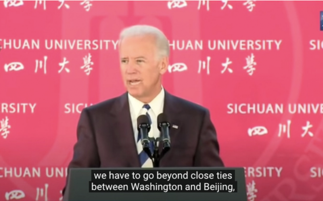 """FLASHBACK: BIDEN CALLS FOR COMMUNIST CHINESE INFLUENCE IN """"ALL LEVELS OF GOVERNMENT, CLASSROOMS… AND BOARDROOMS"""""""
