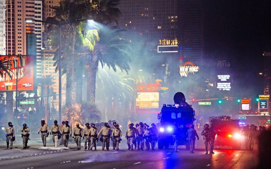 Police use tear gas, rubber bullets to break up Black Lives Matter protest on Strip