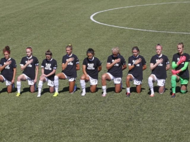 NWSL Players Kneel During National Anthem