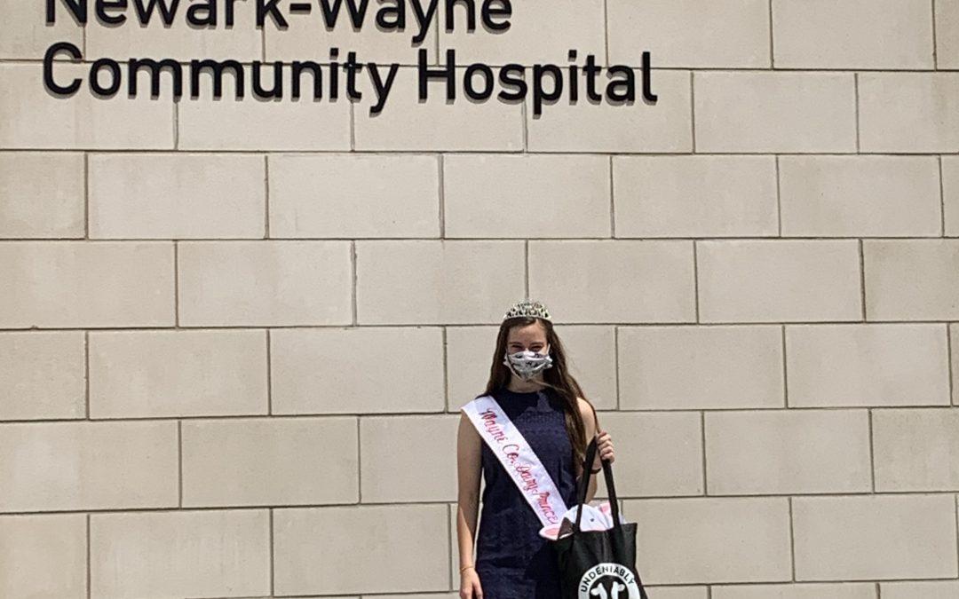 Wayne County Dairy Princess Makes Socially Distant Visit to  Newark-Wayne Community Hospital