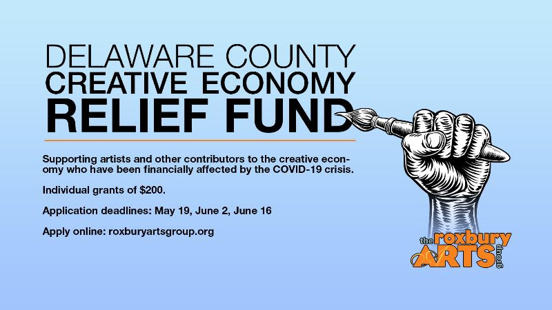 Delaware County Creative Economy Relief Fund Additional round has been added. Deadline: Tuesday, June 30 @  4p