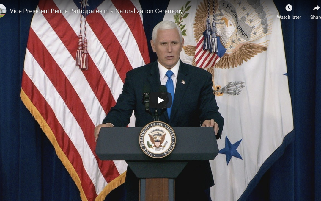 Vice President Pence Participates in a Naturalization Ceremony July 2, 2020