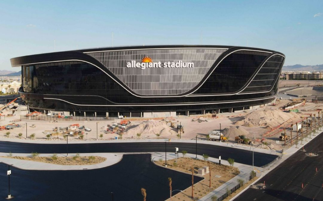 Allegiant Stadium sits at 98% complete, conducts 'blackout' test