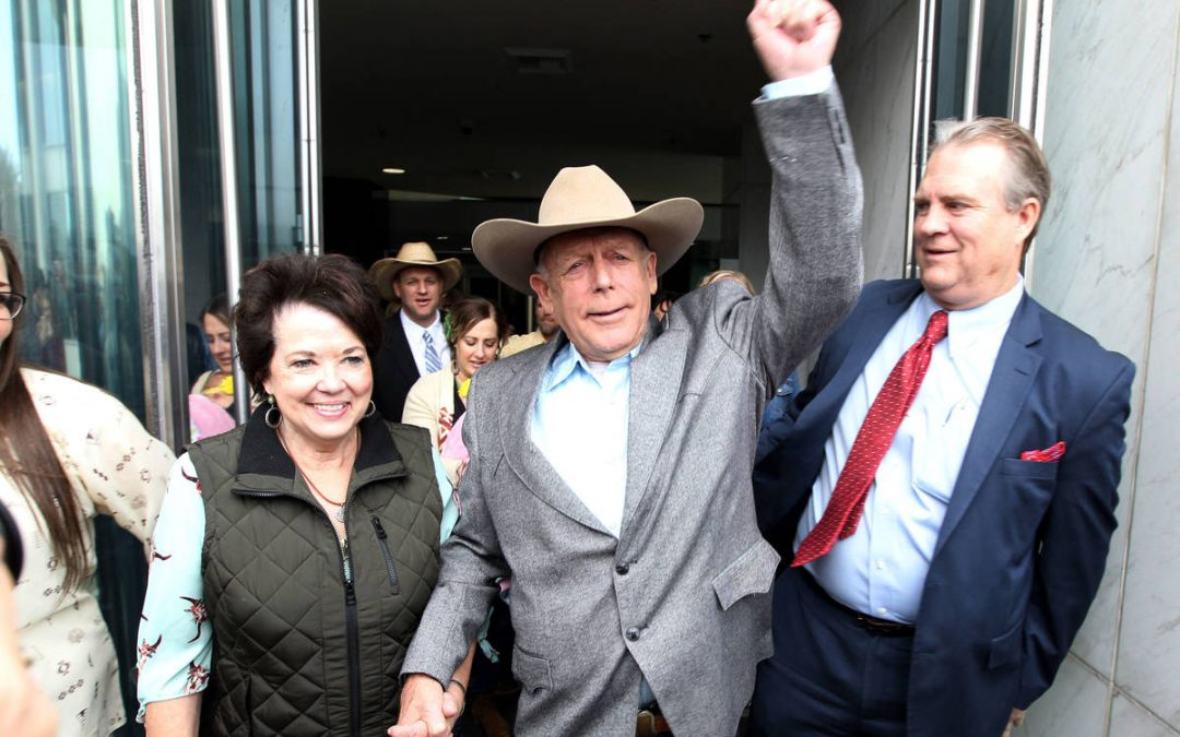Appeals court upholds dismissal of Cliven Bundy case