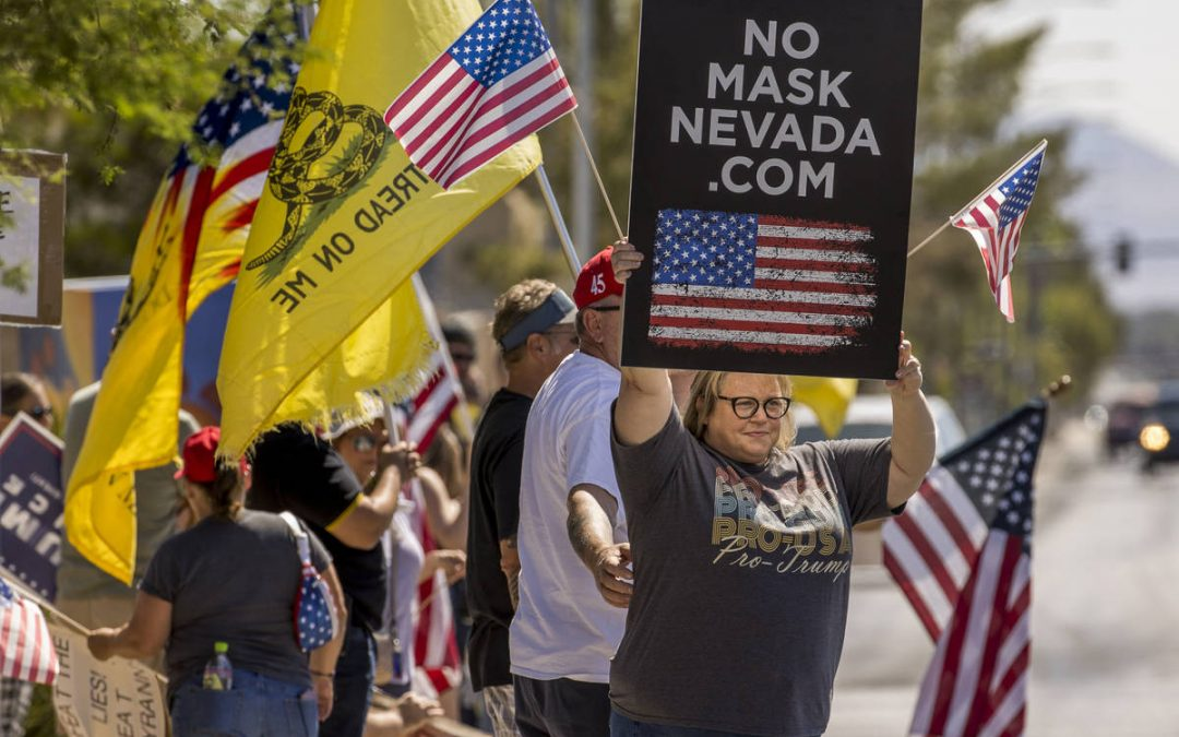 No Mask Nevada protesters rally in northwest Las Vegas