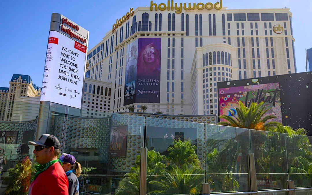 12 major Las Vegas hotel-casinos remain dark indefinitely