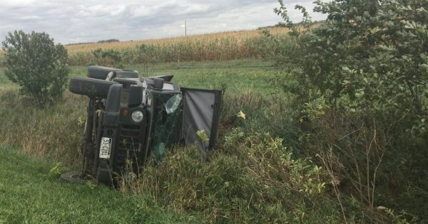 Stanton Woman Walks Away From Rollover Accident