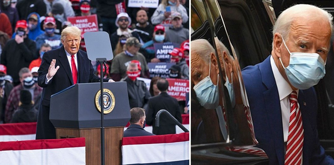 WITH 8 DAYS TO GO… Trump and Pence blanket critical swing states, Biden and Harris have no events scheduled