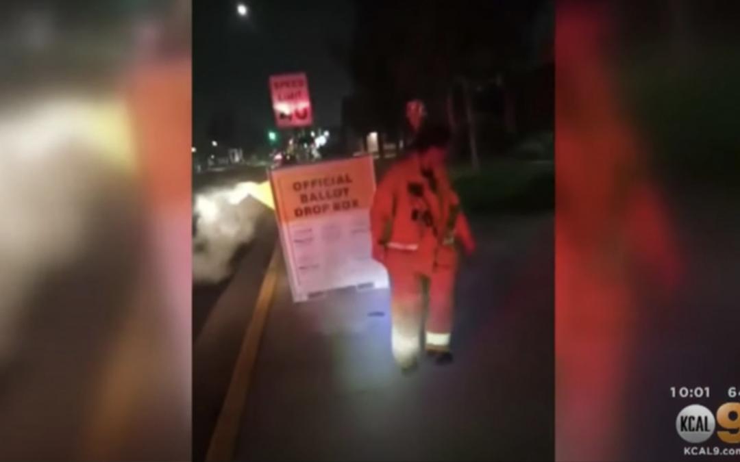 Ballot Drop Box Set on Fire in Los Angeles