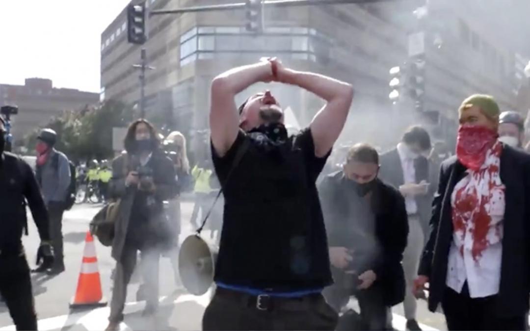 Antifa Members Conduct Occult Ritual in Boston Streets, Eat Bloody Heart Symbolic of Trump