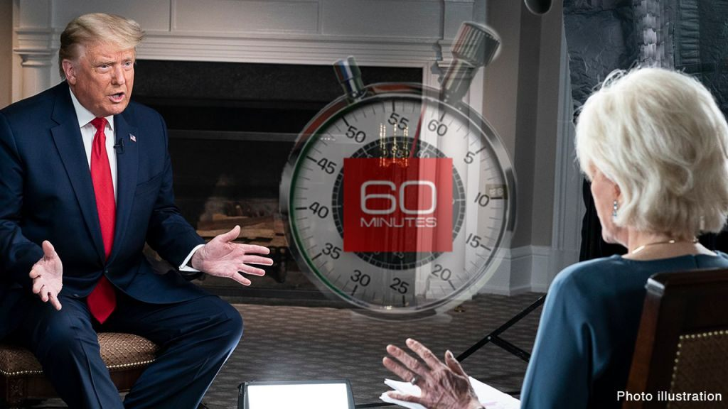 Trump tweets out pictures of '60 Minutes' interview amid threats to release clips early