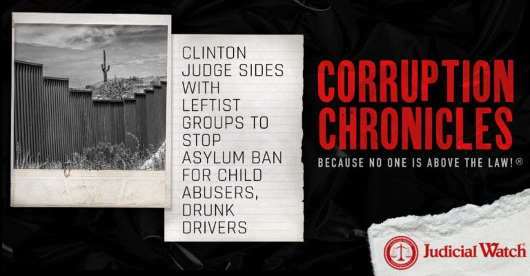 Clinton Judge Sides with Leftist Groups to Stop Asylum Ban for Child Abusers, Drunk Drivers