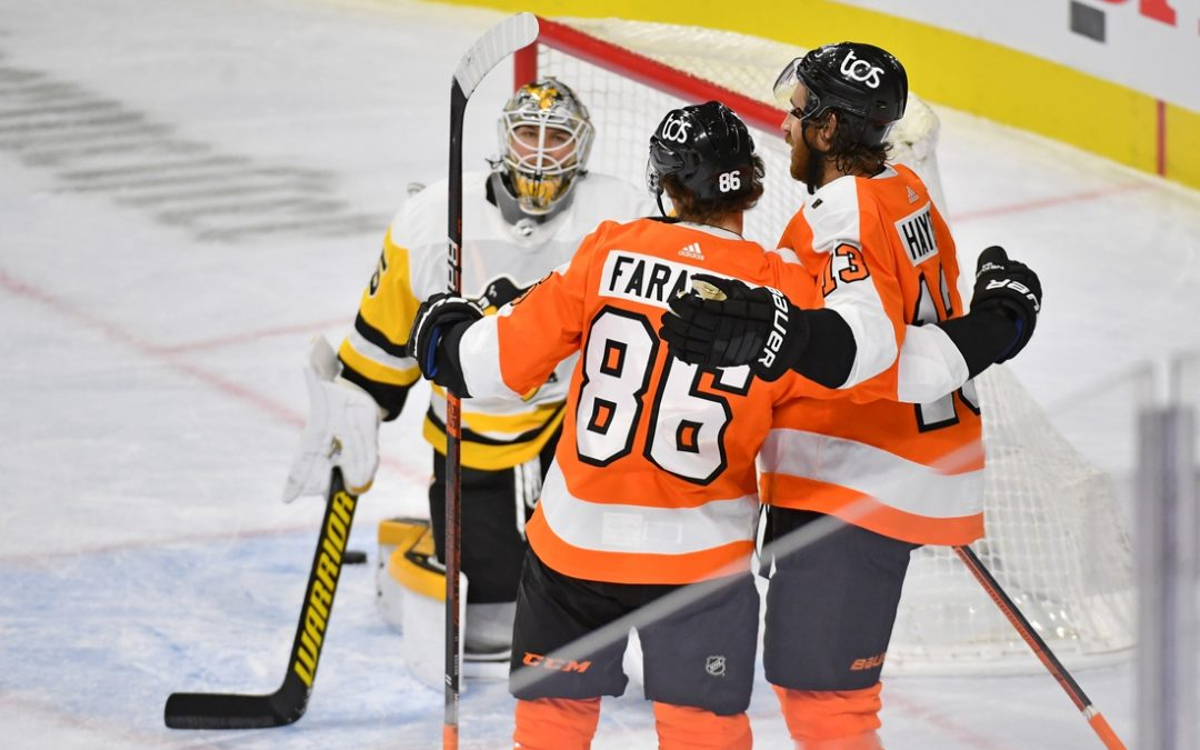 Flyers pull away in third period to beat Penguins
