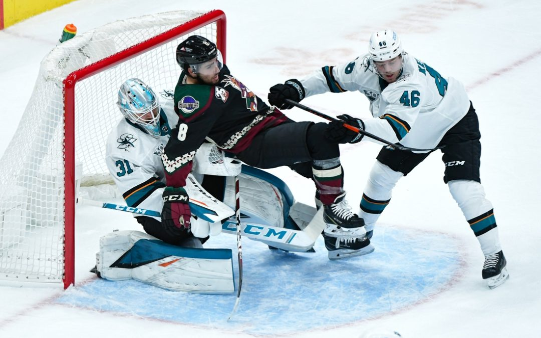 Sharks blow lead but top Coyotes in shootout