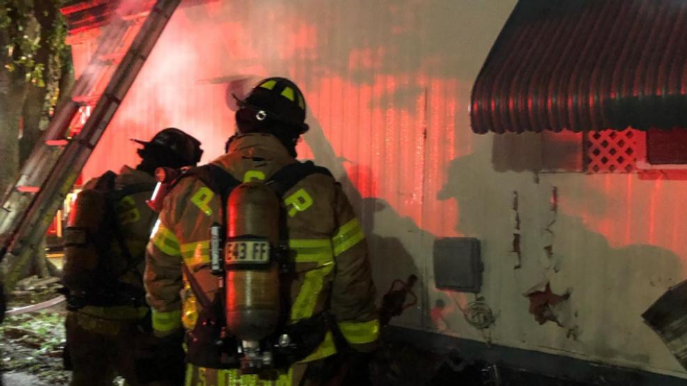 Boynton Beach Trailer Catches Fire