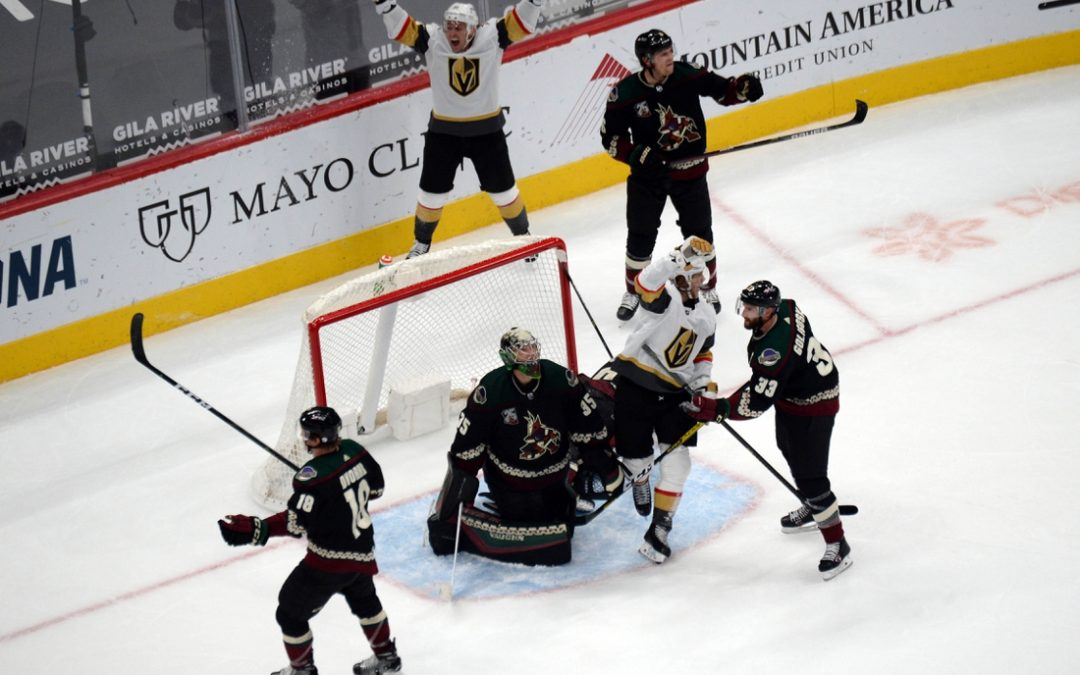 William Karlsson's late goal lifts Last Vegas over Coyotes