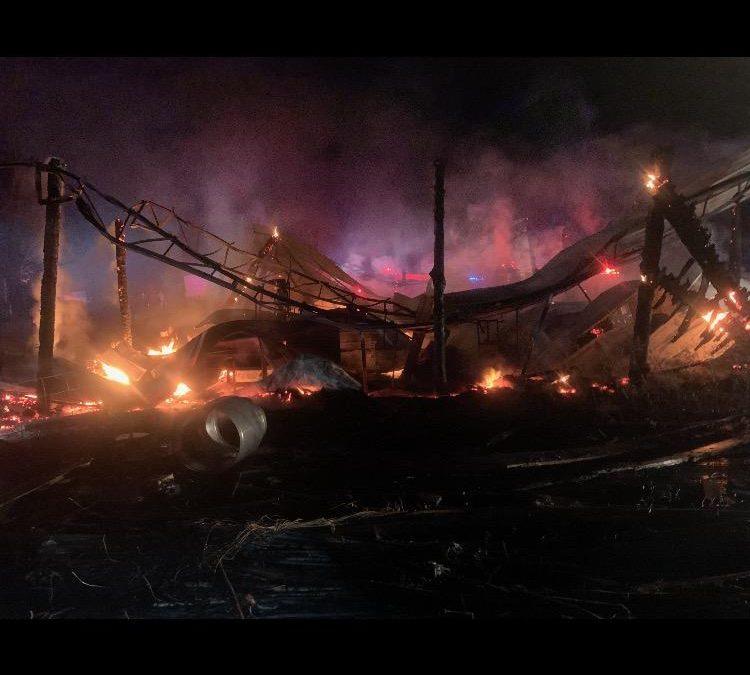 TUESDAY NIGHT FIRE DESTROYS BARN IN CRAWFORD COUNTY