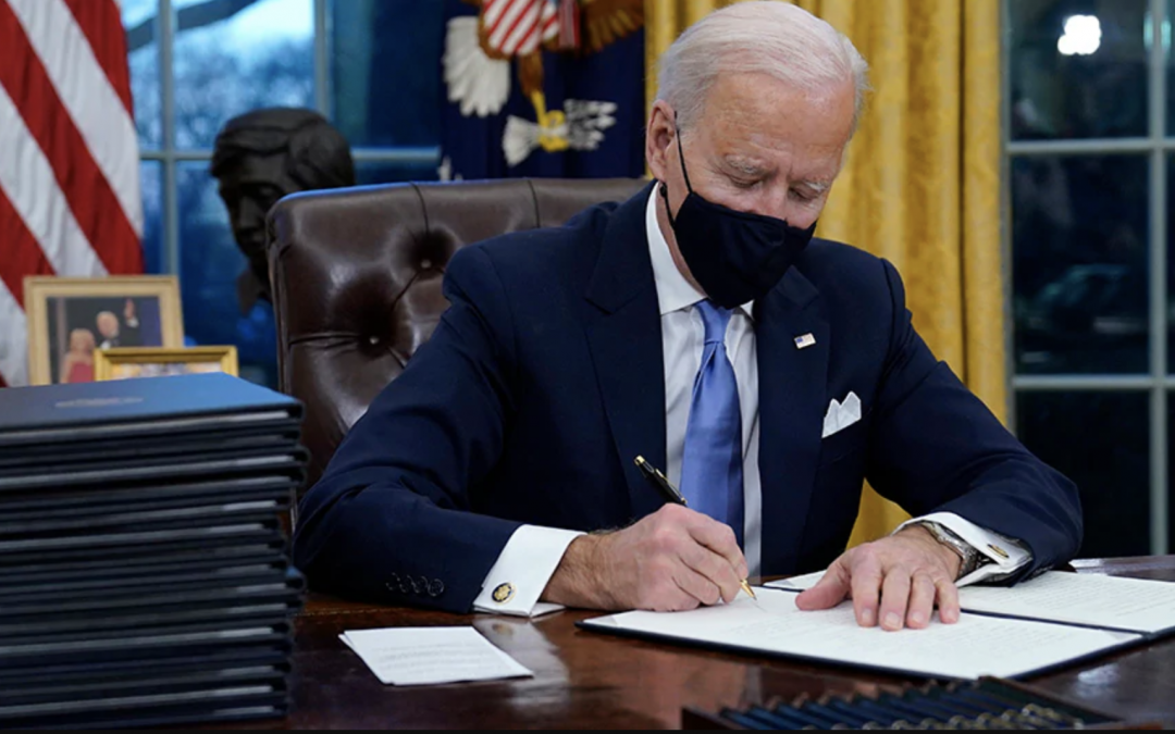 EXECUTIVE RUSH: Biden rolls back Trump policies, pushes massive new spending plan, setting lofty goals for first 100 days