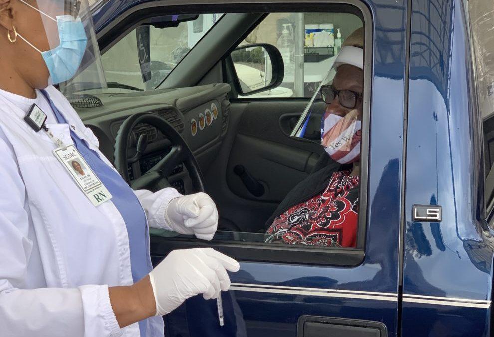 SGMC Begins COVID-19 Vaccination Drive Thru Site