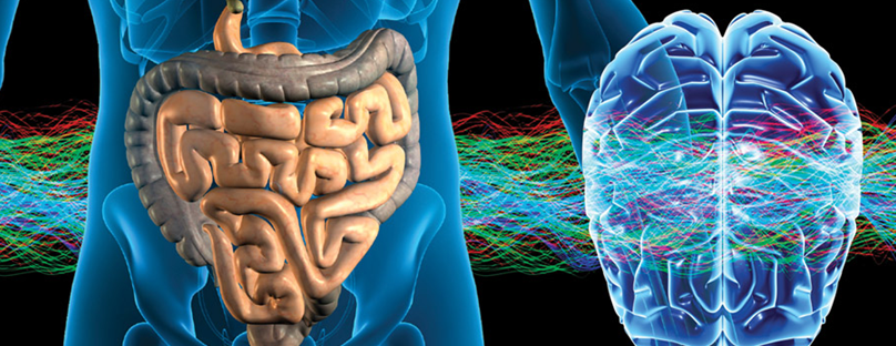 Can abdominal pain affect brain function?