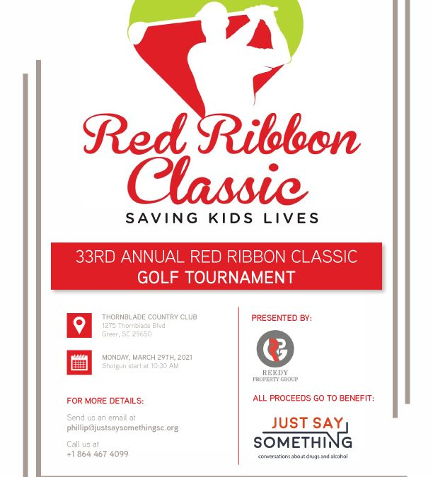 JUST SAY SOMETHING HOSTS 33RD ANNUAL RED RIBBON CLASSIC GOLF TOURNAMENT!