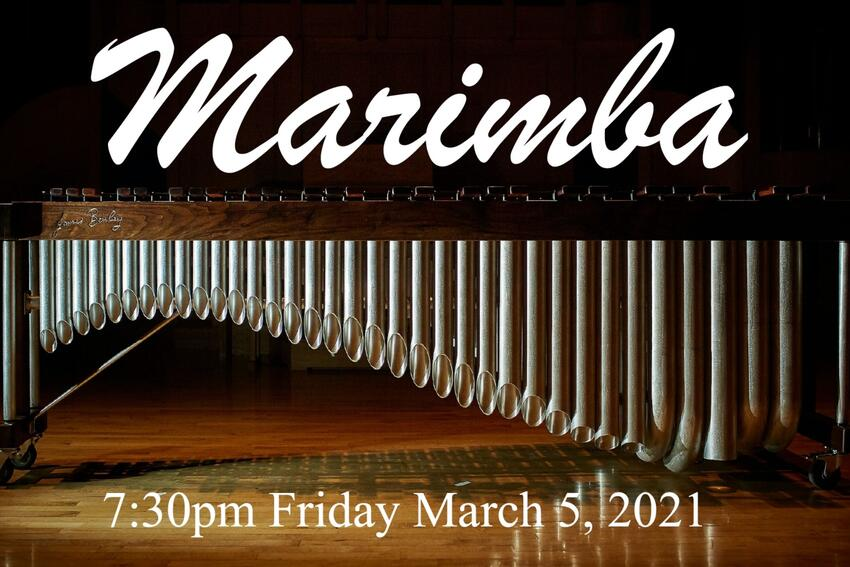 "Live from the Performing Arts Center: The UNLV Percussion Ensemble in ""Marimba"" March 5"