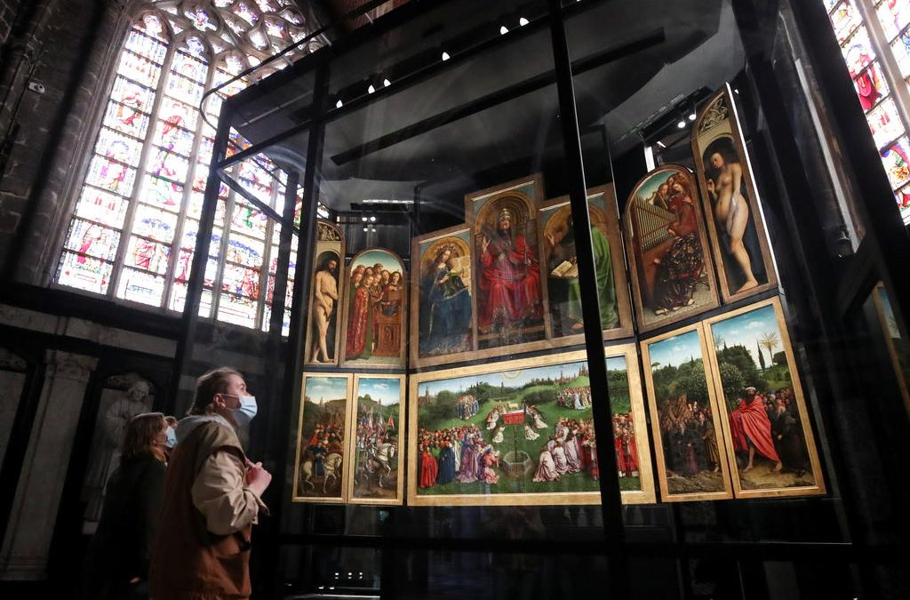 Belgium unveils new showcase for ill-treated Ghent masterpiece