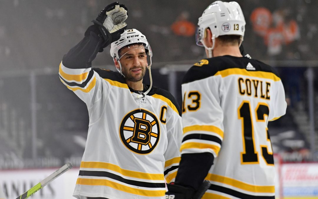 NHL roundup: Patrice Bergeron's hat trick propels Bruins to win