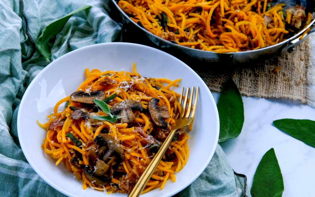 Spiralize squash and make guilt-free curly fries