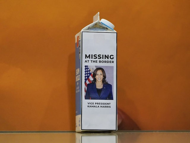 GOP Place Kamala Harris's Picture on 'Missing' Milk Carton to Highlight Border Debacle