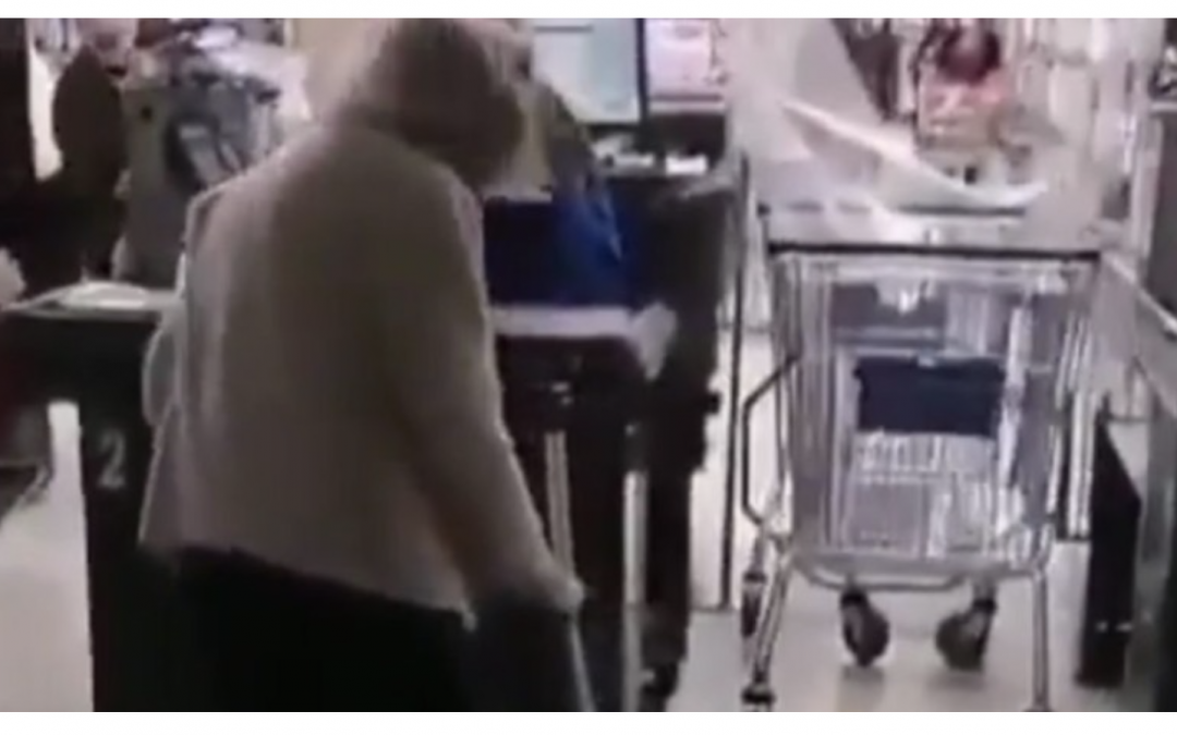 COVID-1984: Chile: Elderly Woman Denied Entry to Supermarket After Failing to Obtain Government Permission to Buy Food