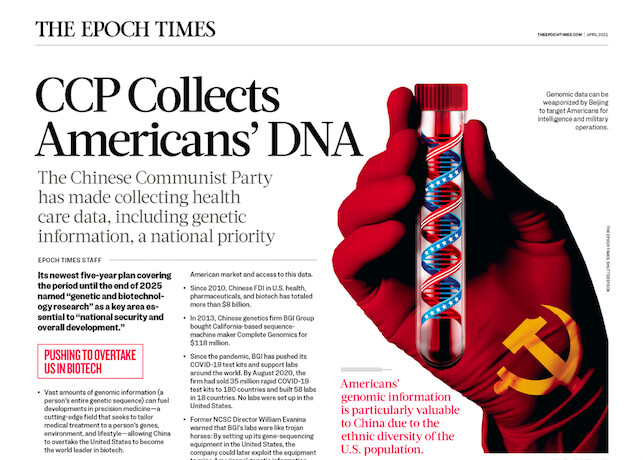 INFOGRAPHIC: CCP Collects Americans' DNA