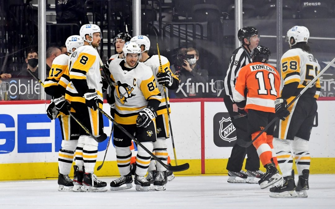 NHL roundup: Penguins rout Flyers, grab first place in East